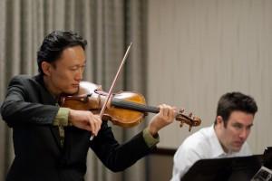 Iggy Jang and Jon Korth in rehearsal