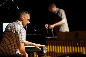 "Michael Zuraw and Craig Hauschildt rehearsing ""Like Still Water"""