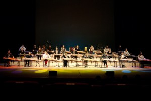 Kimhae Gayageum Orchestra rehearsal