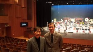 With Park Dae-seung in Busan, Korea, whose piece I based a concerto on